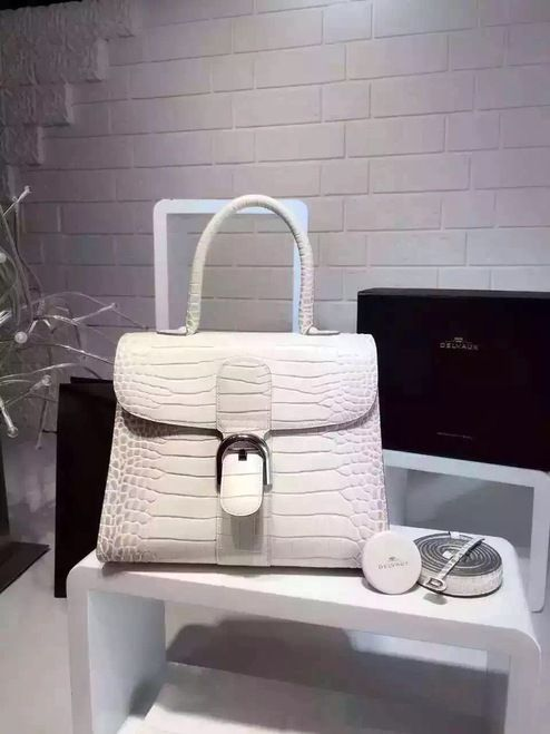 [Exclusive] Delvaux Bianco Alligator Echec Mat Brillant MM Bag