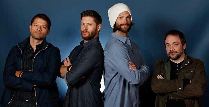 The Supernatural cast :: Misha Collins, Jensen Ackles, Jared Padalecki, Mark Shepphard