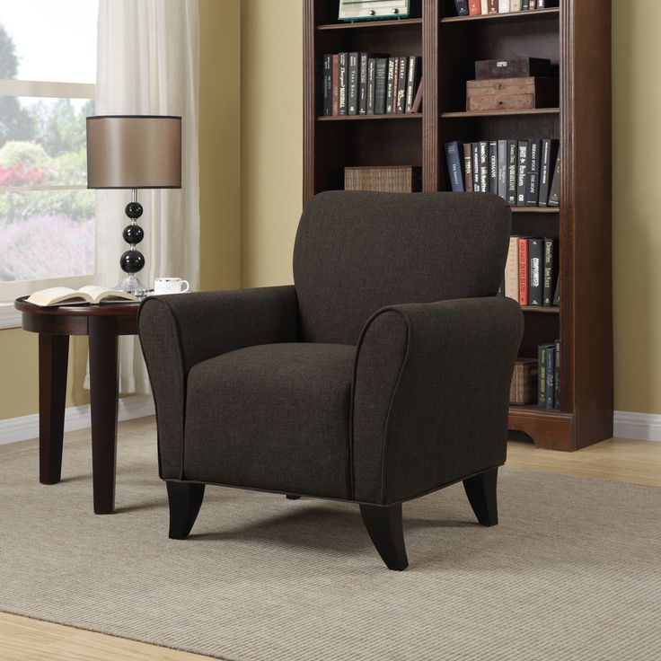 best living room chair%0A Portfolio Seth Chocolate Brown Linen Curved Back Arm Chair   Overstock com  Shopping  The  Living Room