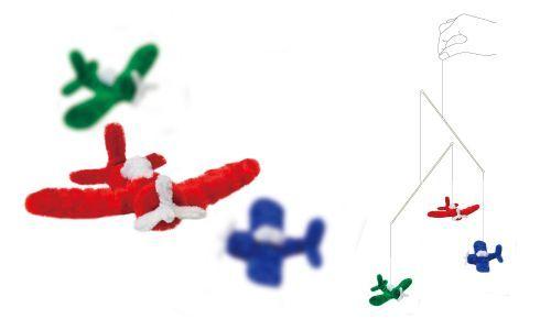 簡単手作り工作 モールアートモビール 43:飛行機 簡単ハンドメイド雑貨-モールアート工作キット通販のクラフトジャム