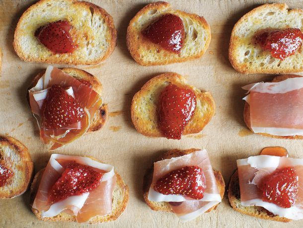 Preserved Strawberries and Jamón Serrano on Little Toasts from 'Canal House Cooks Every Day' #recipe
