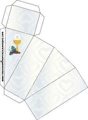 Primera Comunión: Cajas para Imprimir Gratis.