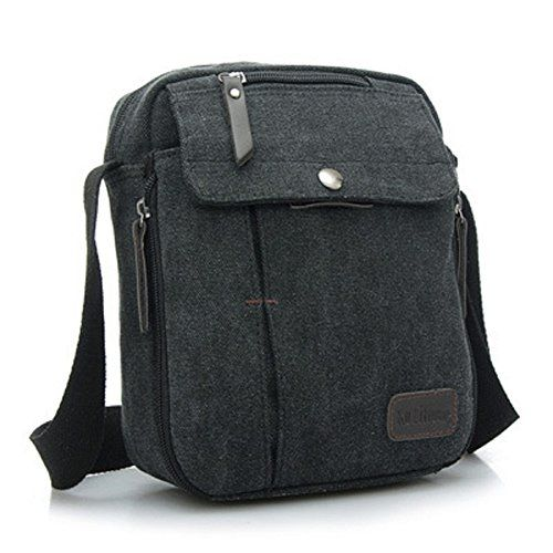 MiCoolker Small Simple Military Messenger Bag Casual Canvas Shoulder Bag Korean Version of the Outdoor Multifunctional for Man Women and Boys Black MiCoolker http://www.amazon.com/dp/B00T7VJEK0/ref=cm_sw_r_pi_dp_yBYdxb1PDC6EZ