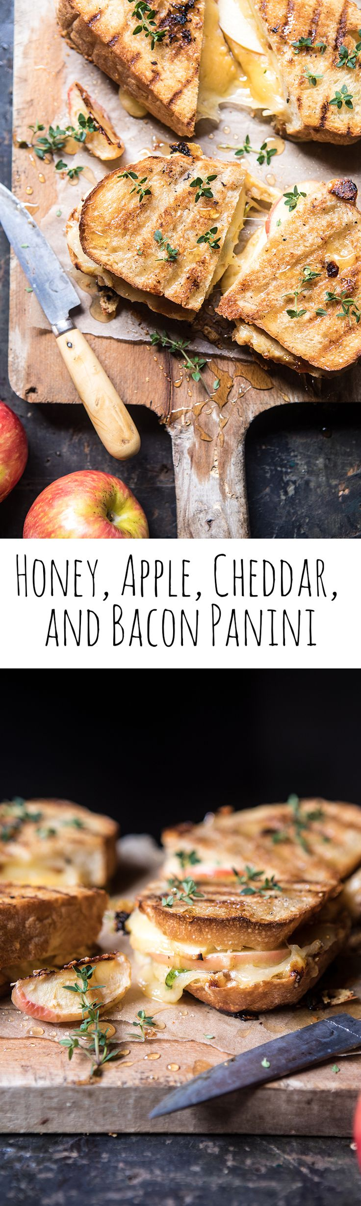 Honey, Apple, Cheddar, and Bacon Panini | halfbakedharvest.com @hbharvest