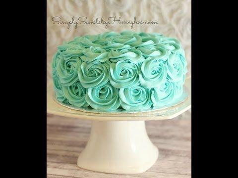 Rose Swirl Cake Tutorial - YouTube