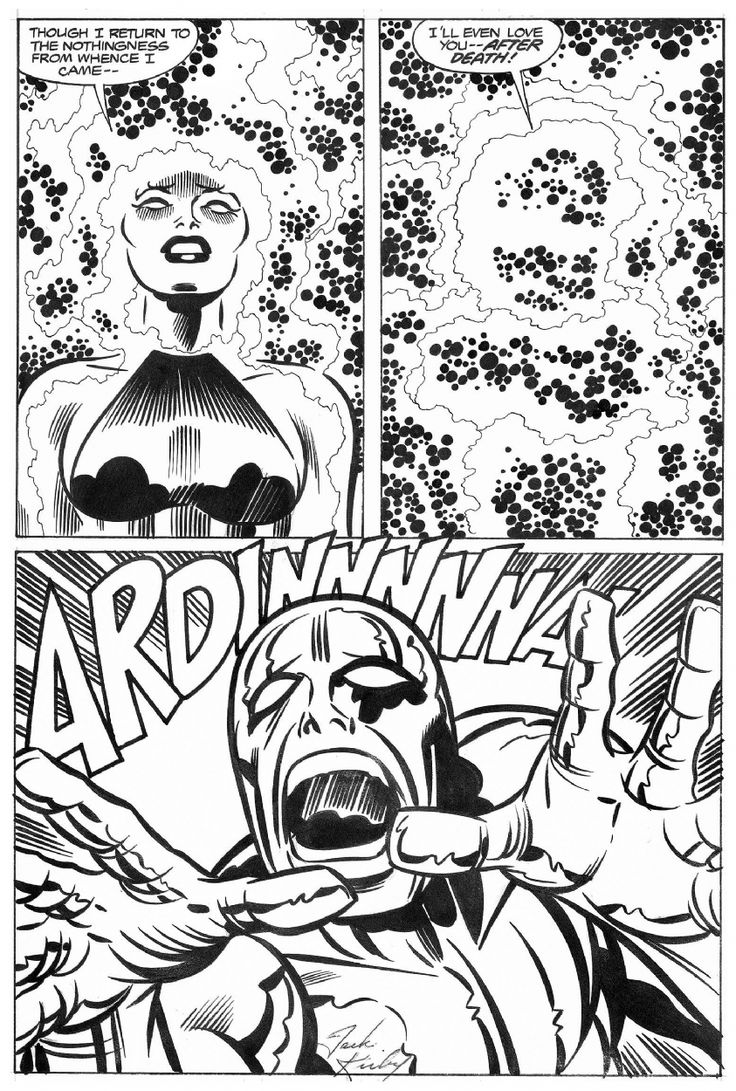 Page from the 1978 SILVER SURFER graphic novel by Jack Kirby and Joe Sinnott