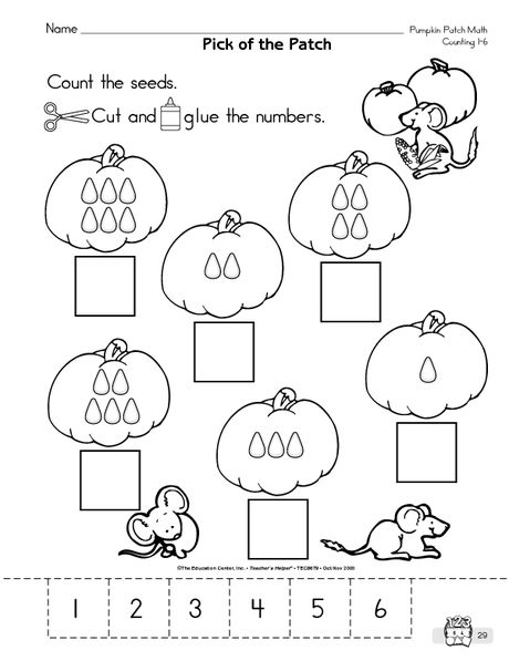 recognizing numbers 1-6