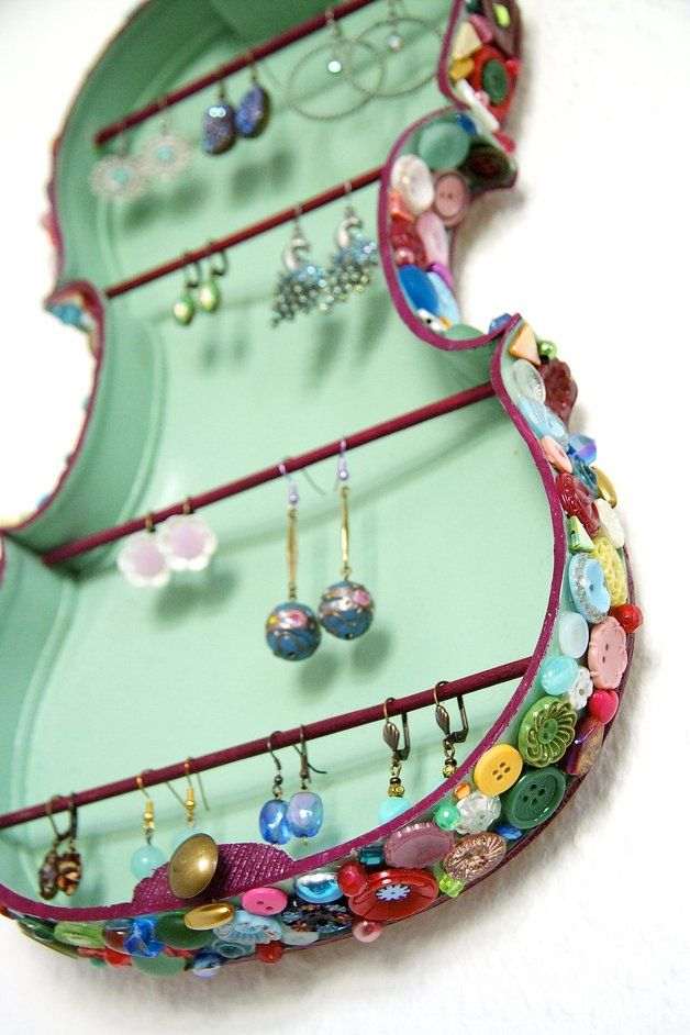 Original jewelry holder from violin back and ribs {In Seventh Heaven}