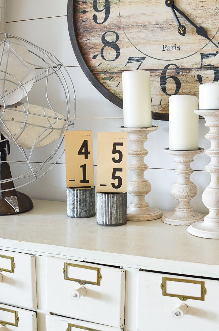 Vintage flashcards and candlesticks 85 best Accessorizing