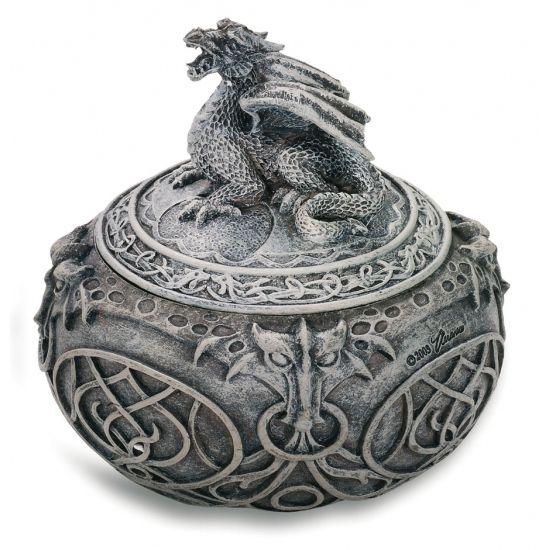 Boîte ronde Gothique Dragon Celtique