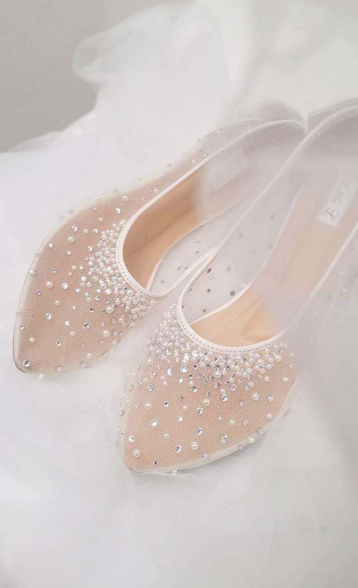 Wedding Shoes Transparent White Lace Pearl Rhinestone Ivory | Etsy | Wedding  shoes lace, Wedding shoes sandals, Wedding shoes heels