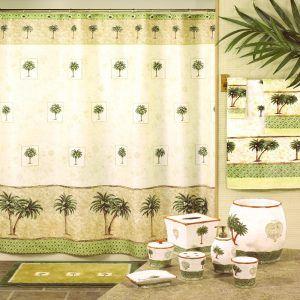 Palm Tree Shower Curtains Bath Accessory Sets