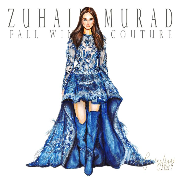 Zuhair Murad Fall Winter Couture illustration by swidyaningtiyas