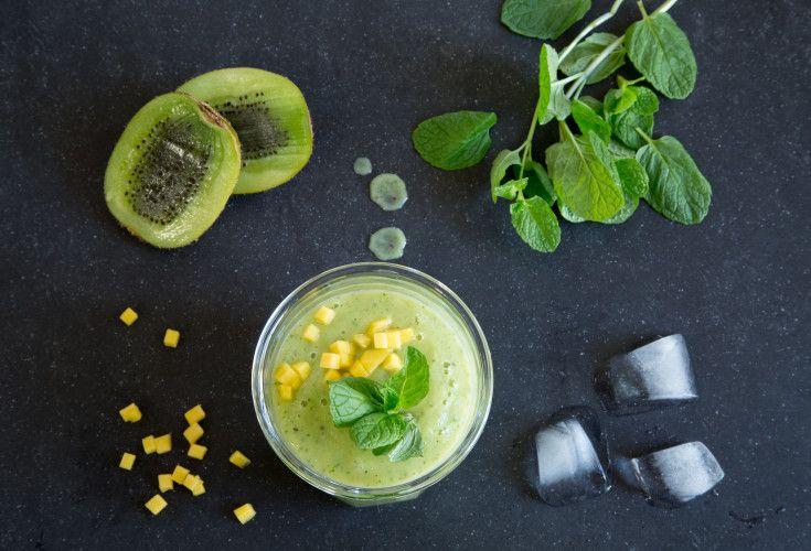 Creamy Minty Mango Kiwi Smoothie | Nadia Lim
