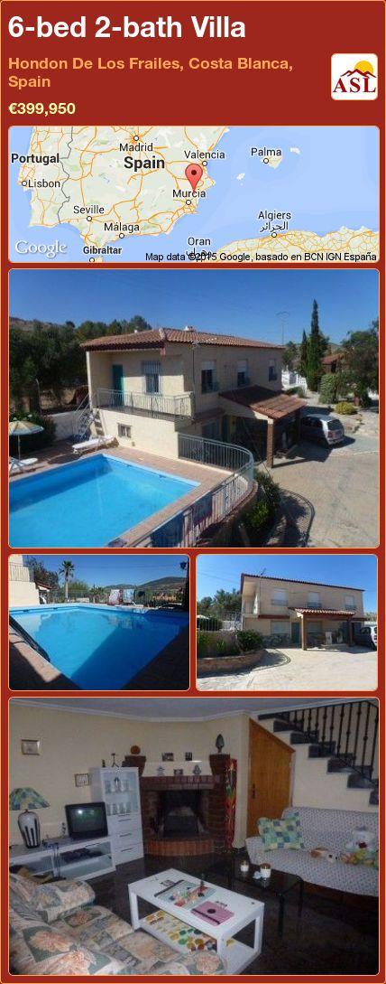 6-bed 2-bath Villa in Hondon De Los Frailes, Costa Blanca, Spain ►€399,950 #PropertyForSaleInSpain