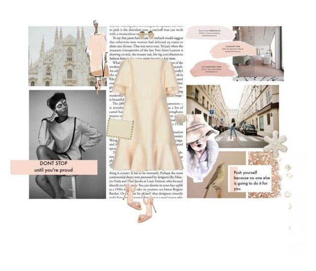 """""""Nathalie"""" by cherrygummybear21 ❤ liked on Polyvore featuring Valentino, Van Cleef & Arpels, Stephenson, Giuseppe Zanotti and Wilton"""