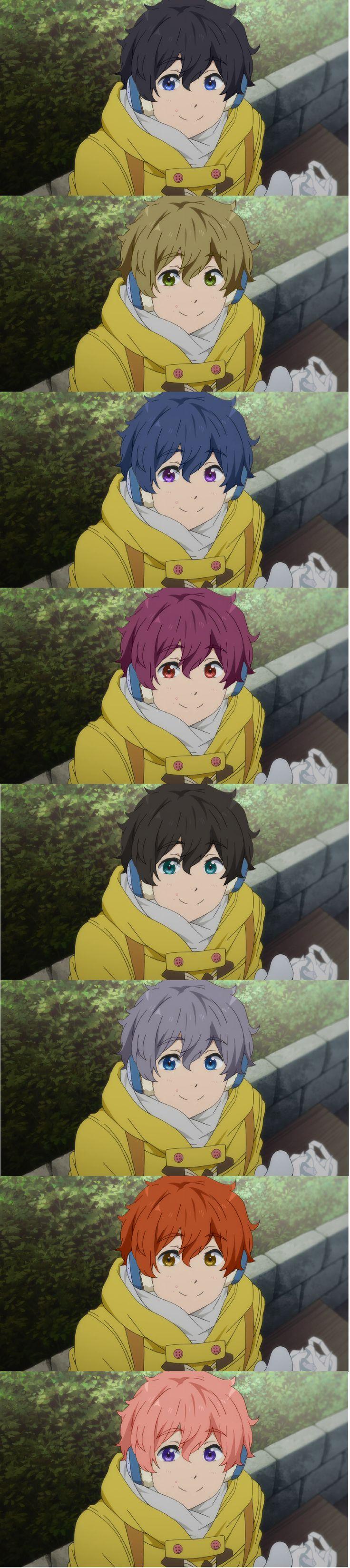 Hair Color Swap: Nagisa - The Kisumi one, tho... O.o>>the kisumione is so cute