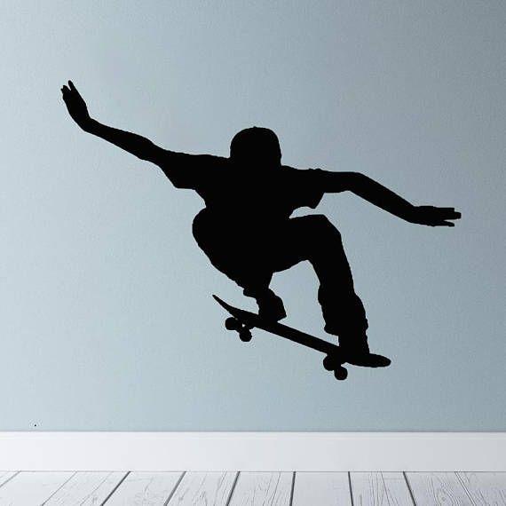 SKATEBOARDER SKATING Vinyl wall art sticker decal