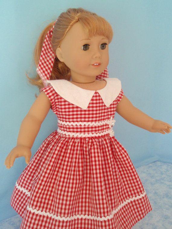 American Girl Doll Dress 1950s Maryellen 18 Inch by izzadorabelle