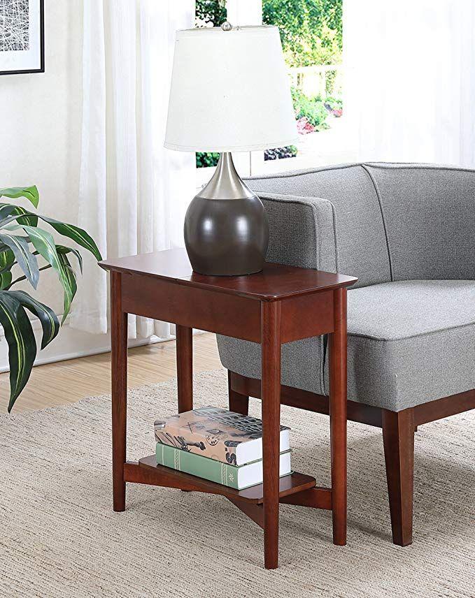 amazon com convenience concepts 7303059mg end table mahogany rh pinterest com