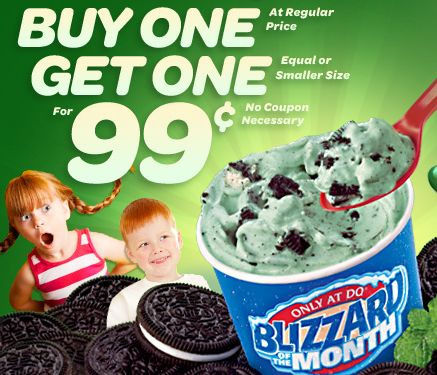 Any second blizzard for a buck this month at Dairy Queen coupon via The Coupons App