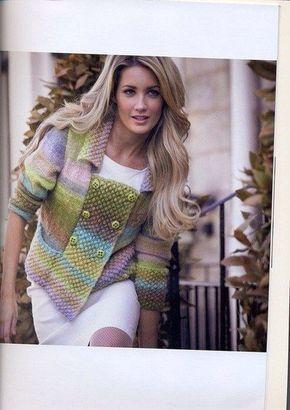 Кардиган из секционной пряжи - Жакеты,Пуловеры, свитера - Вязание спицами - Рукоделие