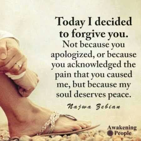 YESSS! I deserve this peace & moving forward I will never allow you to get to me again!