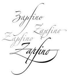 The Zapfino font family.