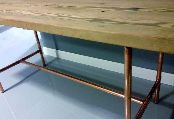 Reclaimed Wood Dining Table Handmade Custom Reclaimed