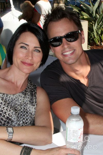 Rena Sofer, Darin Brooks at the Bold and Beautiful Fan Meet and Greet at the Farmers Market on August 23, 2013 in Los Angeles, CA