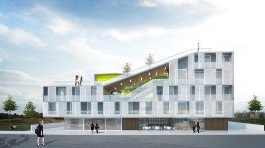 Configuração da fachada da Moradia estudantil - Recortes