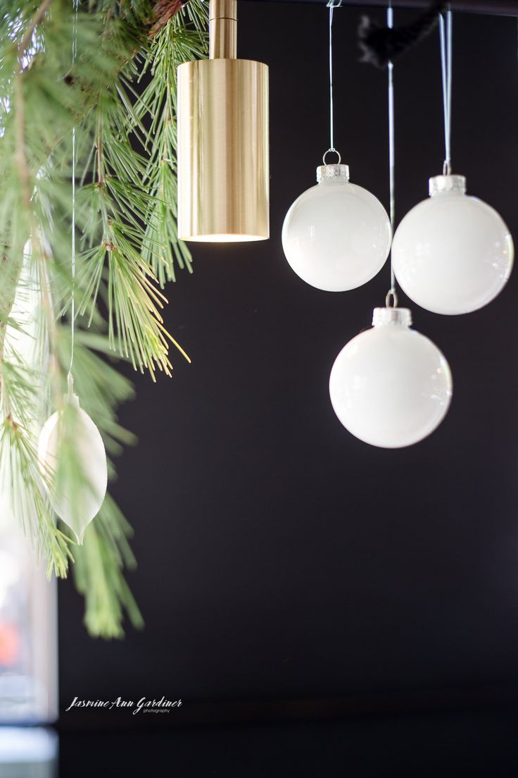 DY.o events (aka Duo) Subtle gold, white and green hanging installation