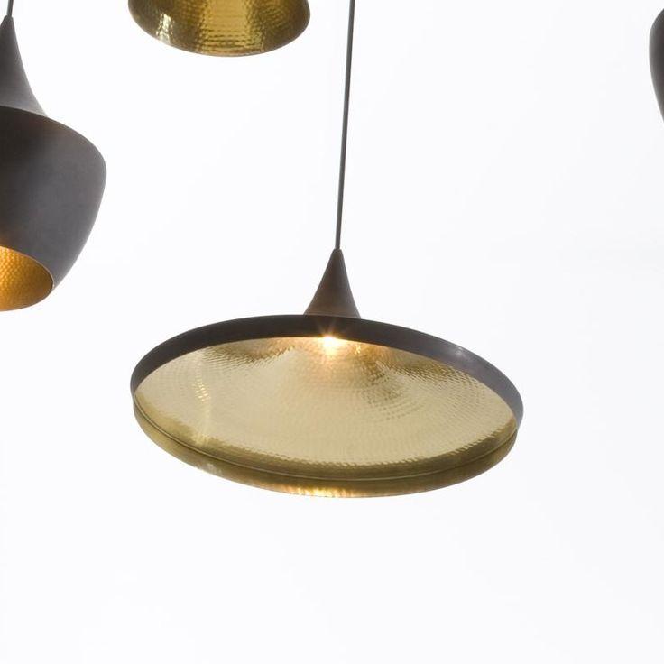 Beat shade wide suspension lamp tom dixon suspension lamps lighting ambientedirect