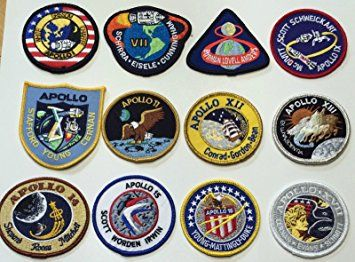 NASA Apollo Mission Patch Set Apollo 1,7,8,9,10,11,12,13,14,15,16,17 Review