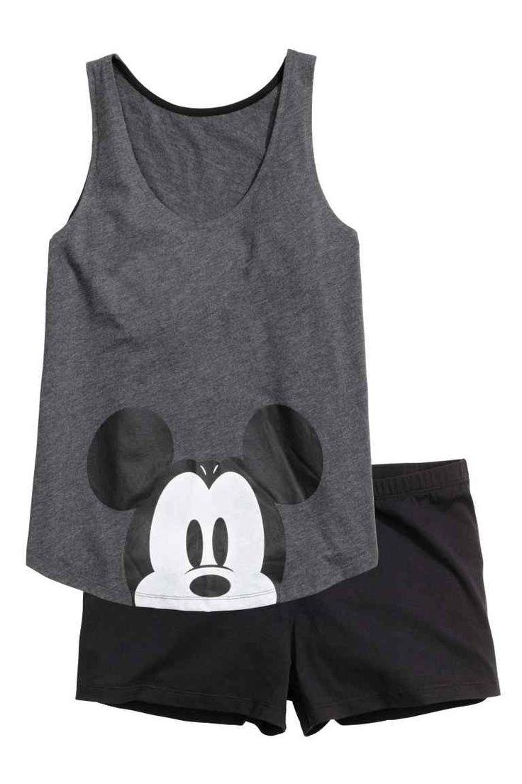 Jersey pyjamas with a vest top | H&M