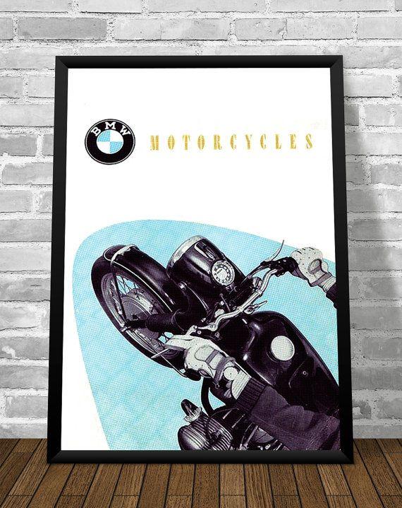 Affiche BMW 1953 - Garage Atelier Vintage - Limited Edition