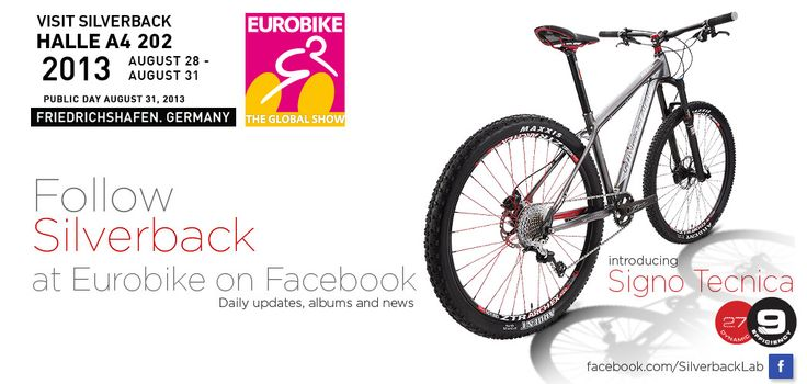 Silverback will be at Eurobike in Hall A4 Stand 202 between August the 28th till the 31st in Friedrichshafen, Germany. Visit facebook.com/SilverbackLab for more info and the latest news and photos.