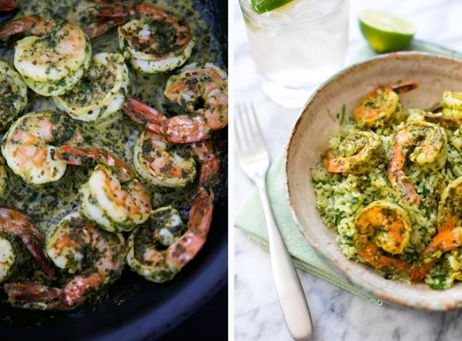 Chimichurri Shrimp with Lime-Herb Rice + A Pioneer Woman Cookbook Giveaway