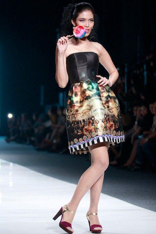 #BILLYTJONG Our 1st Ready To Wear Printed dress on Jakarta Fashion Week13 on Nov 2012 Look 4