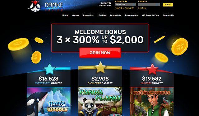 Drake Casino Daily Bonuses Tournaments Entry Codes July 2020