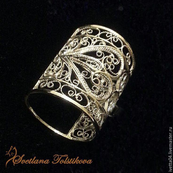 Кольцо для платка. Держатель кулона. Филигрань. filigree jewelry