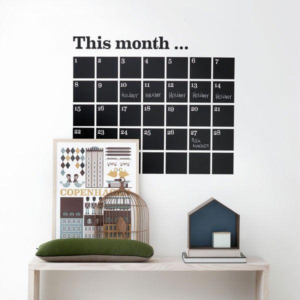 Ferm Living Calendar #muursticker.