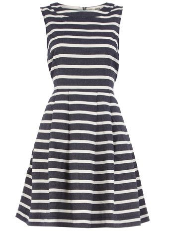 Stripe dressDenim Dresses, Summer Dresses, Navy Stripes, Cute Dresses, High Neck Dresses, Dorothy Perkins, Nautical Dresses, Teachers Dresses, Stripes Dresses