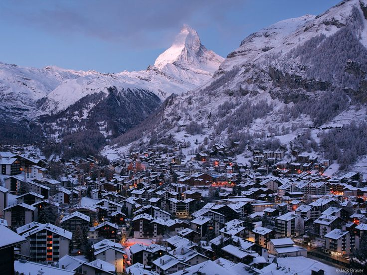 Spectacular view of the Matterhorn in Zermatt