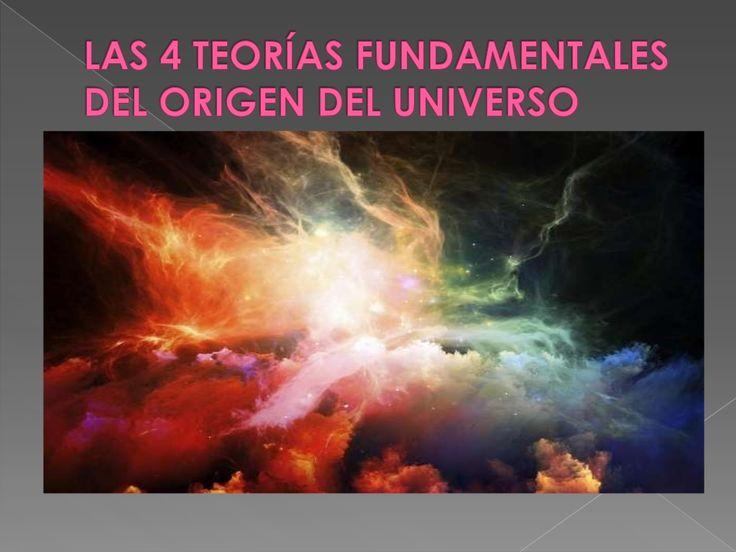 Las 4 teorías fundamentales del origen del universo by Yohana Lizarazo via slideshare