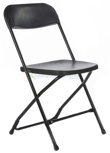 Black Plastic Folding Chair Premium Rental Style