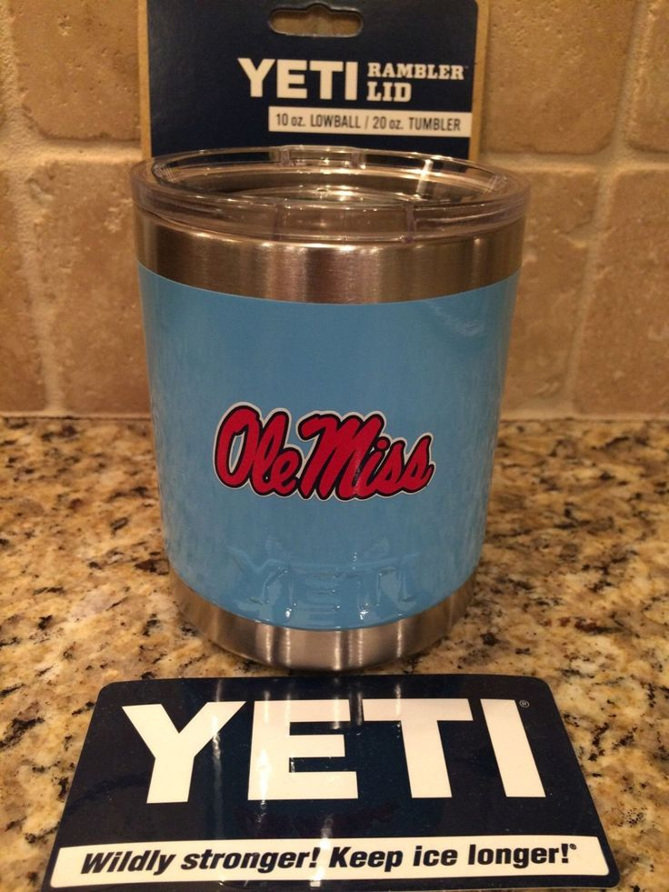 Yeti Rambler Lowball 10oz with Custom OLE MISS REBELS Logo - Includes Accessory Lid by JessBoysColors on Etsy https://www.etsy.com/listing/262820596/yeti-rambler-lowball-10oz-with-custom