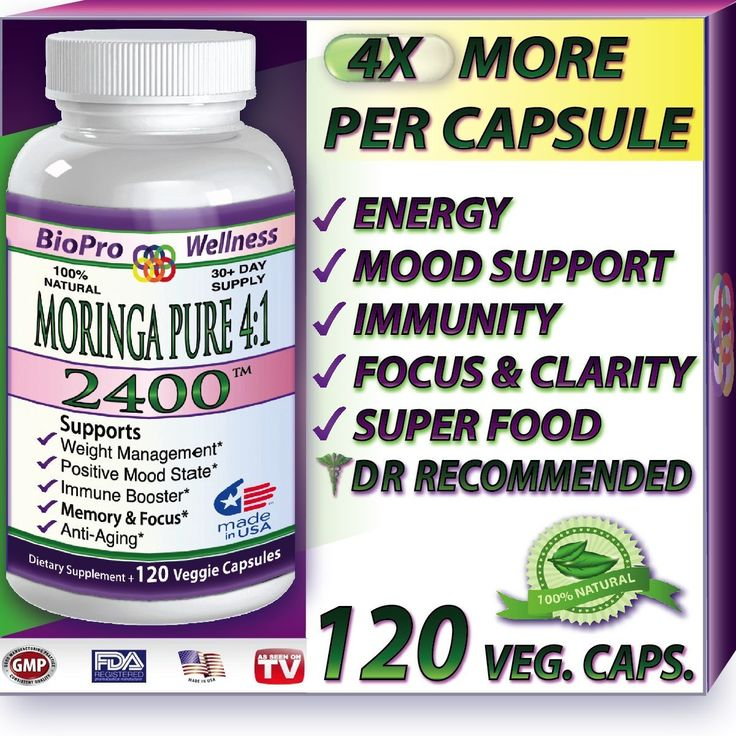 Dr. Oz™ Recommended Pure Moringa Oleifera 4:1 Extract Potent Whole Super Food