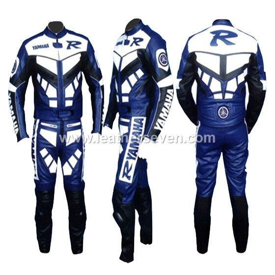 Yamaha R Motorcycle Leather Suit Biker Suit Motorbike Leather Jacket