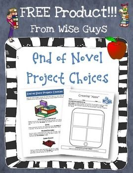 FREE Guided Reading or Novel Study End of Book Project Choices. Students will love to do these extension projects after reading a book!